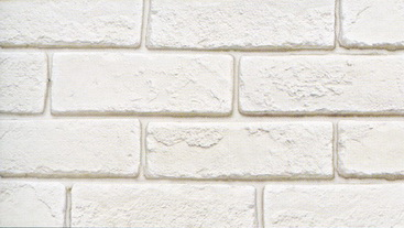 White Artificial Face Brick Application