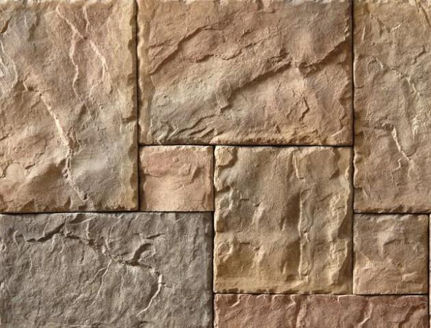 大石头水泥拼接图案地砖