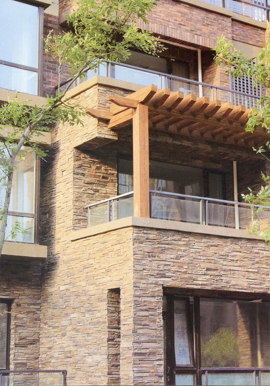 Exterior Wall Thick Reef Stacked Stone Veneer