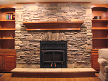 Cast Stone for Fireplace Decoration